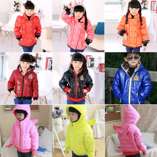 2014 new Korean winter padded cotton jacket boys and girls children's clothing wholesale thick cotton