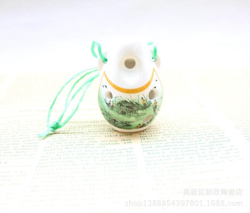 景德镇古韵6孔陶笛 六孔高音C调陶埙 江南水乡 陶瓷特色民族乐器 -价
