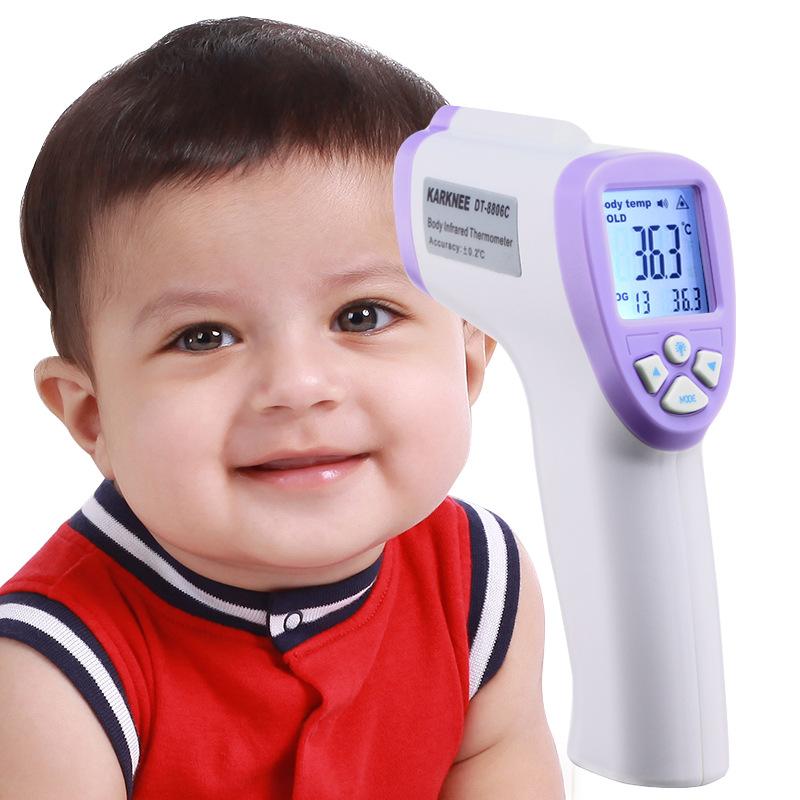 包邮KARKNEE红外线体温计 电子温度计家用测温仪婴儿医用额温枪