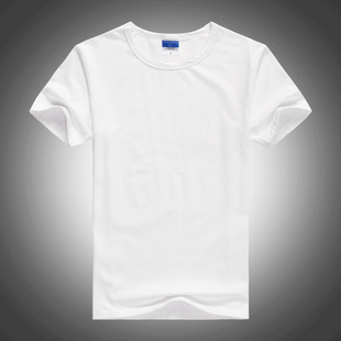 Pure white short sleeve T-shirt wholesale explosion models sweater light board combed cotton Lycra solid color t-shirt n