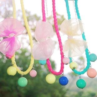 糖果色彩珠配饰韩国小孩可爱项链批发