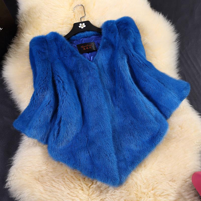 Пэн Синь 2014 новая норковая шуба короткий параграф вся норки модели V шеи рукавом норковая шуба женские