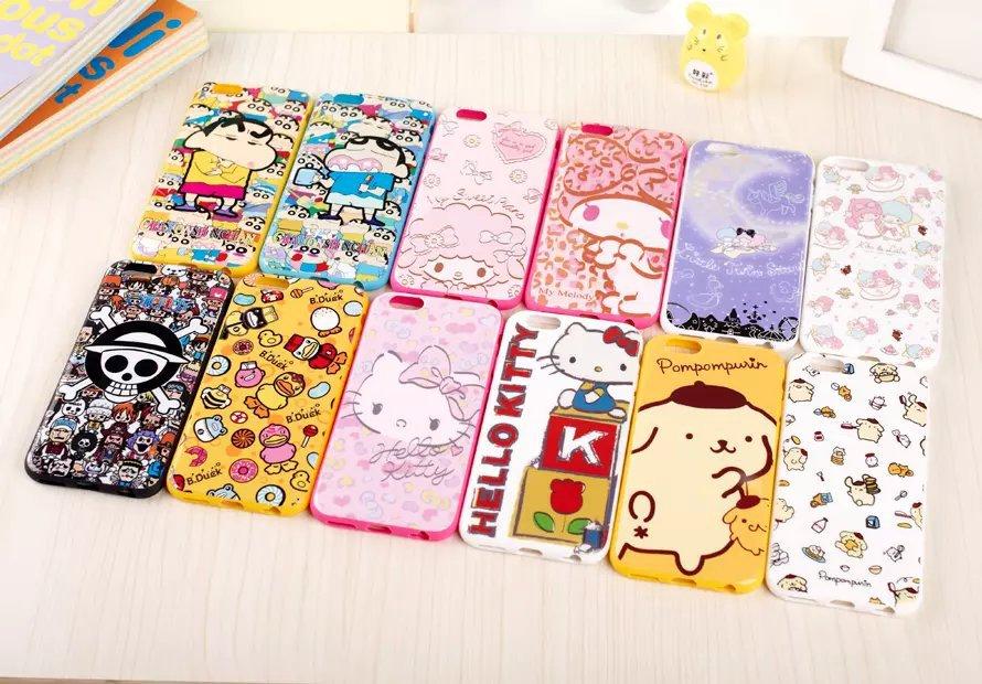 【iphone5三丽欧卡通保护套颜色5s屏幕软壳苹果手机小米手机发黄图片