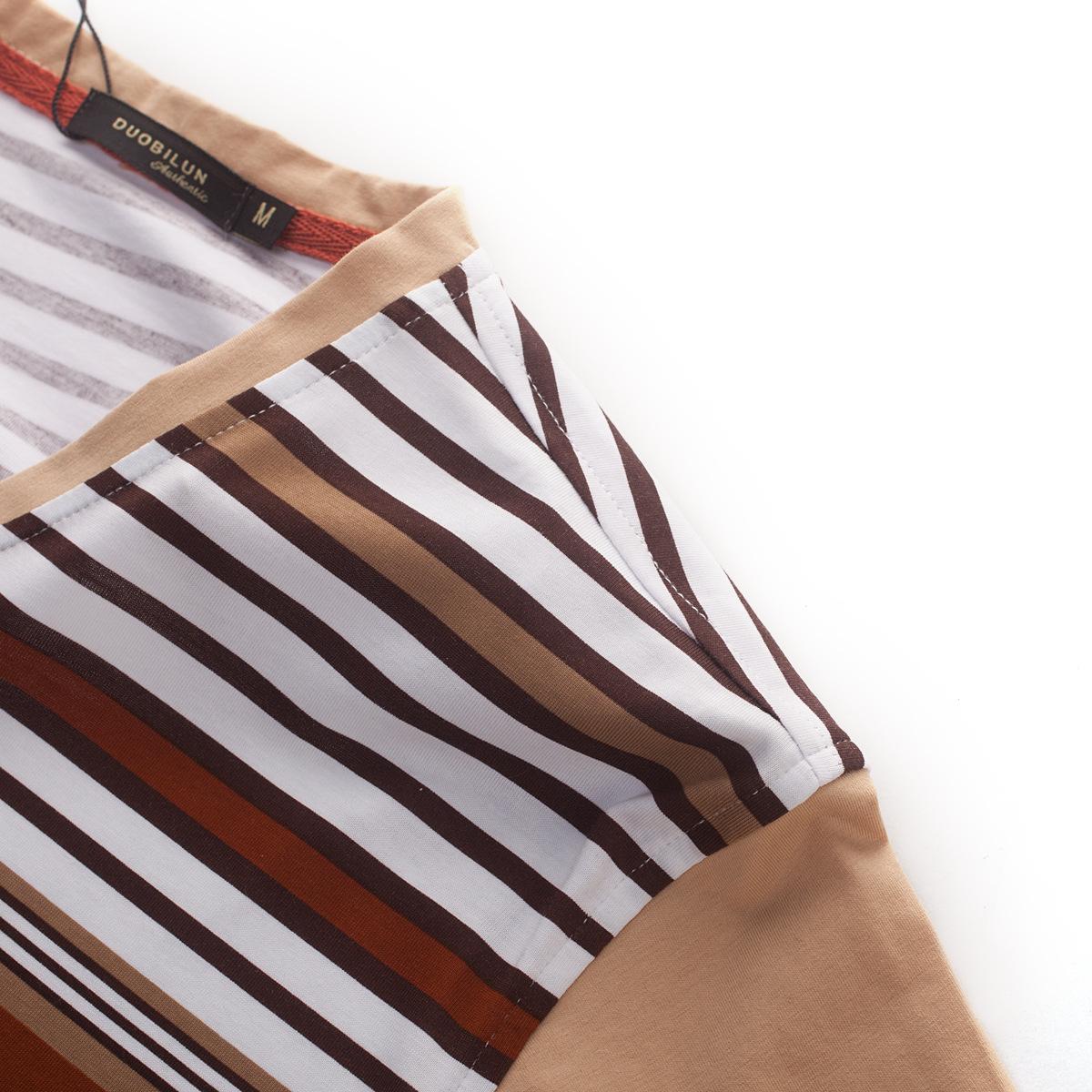 男士 新款 短袖/多比伦服饰2014夏季男装V领新款男式t恤全棉男士短袖5843