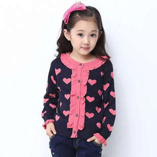 2014 spring new girls cardigan sweater children sweater Family fitted large sweater coat Korean children
