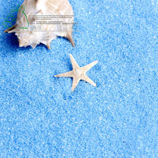1 kg of natural fine sand drain blue swish micro landscape gardening decorative blue colored sand sand toys sand paintin