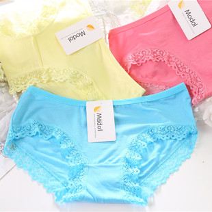 Ms. Taobao explosion models modal lace panties solid bamboo comfort women's underwear wholesale 017
