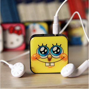 Card MP3 portable mp3 new block pattern cartoon creative gifts MP3 MP3 more factory outlets