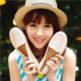 Lobo 406 gold summer sandals Korean flat shoes with thick soles Roman sandals hollow Baotou students