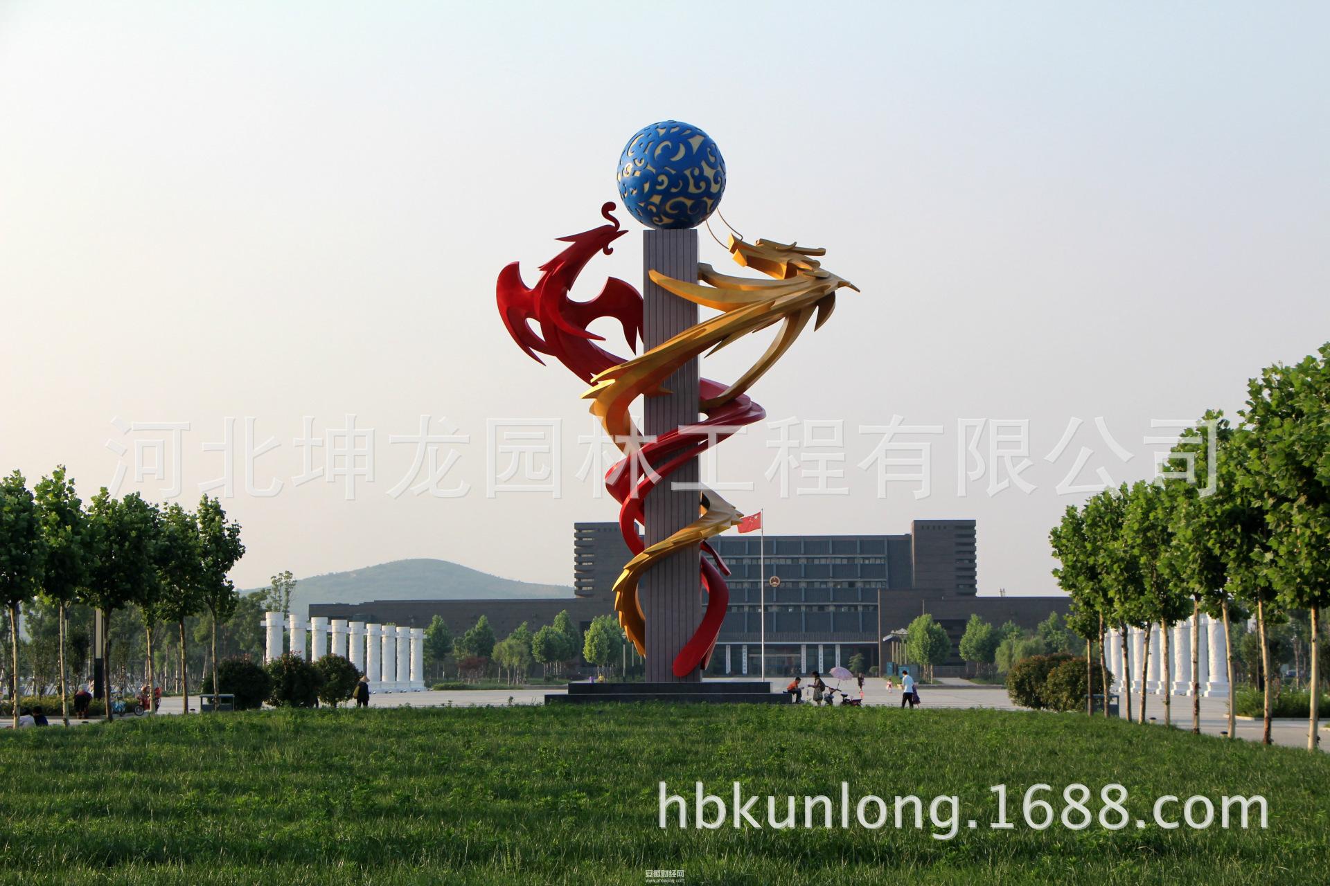 【【河北坤龙】厂家定做不锈钢动物雕塑 大型