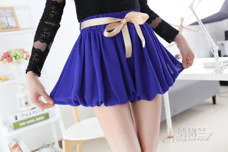 váy quần ngắn nhún phồng nữ tính