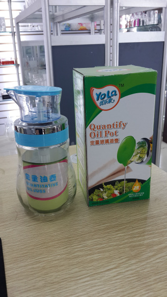 优乐家伟胜厨房用品 定量玻璃油壶/带刻度/玻璃调料