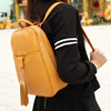 Two ways PU backpack handbags retro single shoulder backpack tassel dual-purpose imitation leather shoulder bag handbag