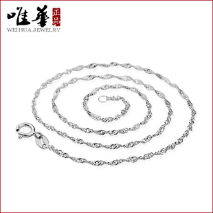 Wave chain necklace Korean female Korean jewelry Guangdong High Art jewelry vintage jewelry wholesale 2 yuan shop