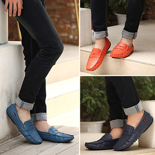 2015 summer new casual shoes leather comfortable soft leather shoes, men's driving Peas sailing shoes lazy shoes