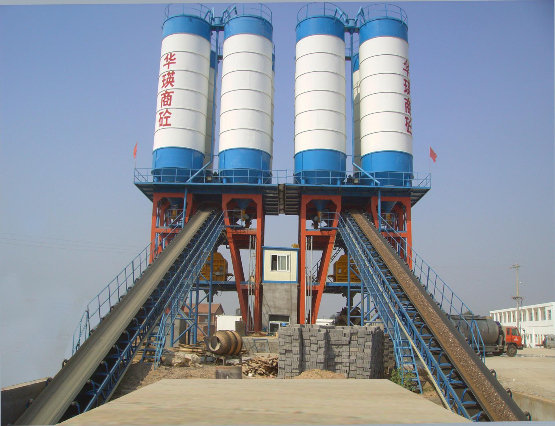 工程混凝土搅拌站HZS120B型节能环保混凝土搅拌站至圣制造图片