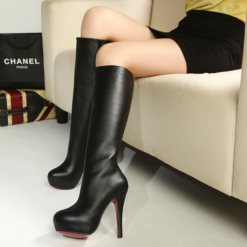 Fashion High heel long boots in the winter of the new sexy High with fine waterproof units with black boots qiu dong fem's main photo