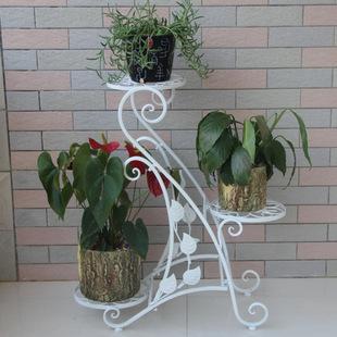 凯华欧式新款落地式花架 户外阳台家用防锈铁艺装饰花架可定制