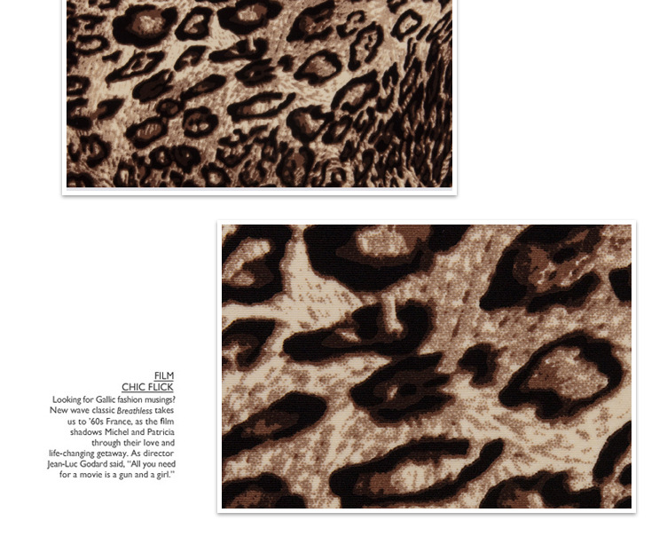 锦纶超薄平纹豹纹印花 超细平纹布 超轻薄纬编布图片六