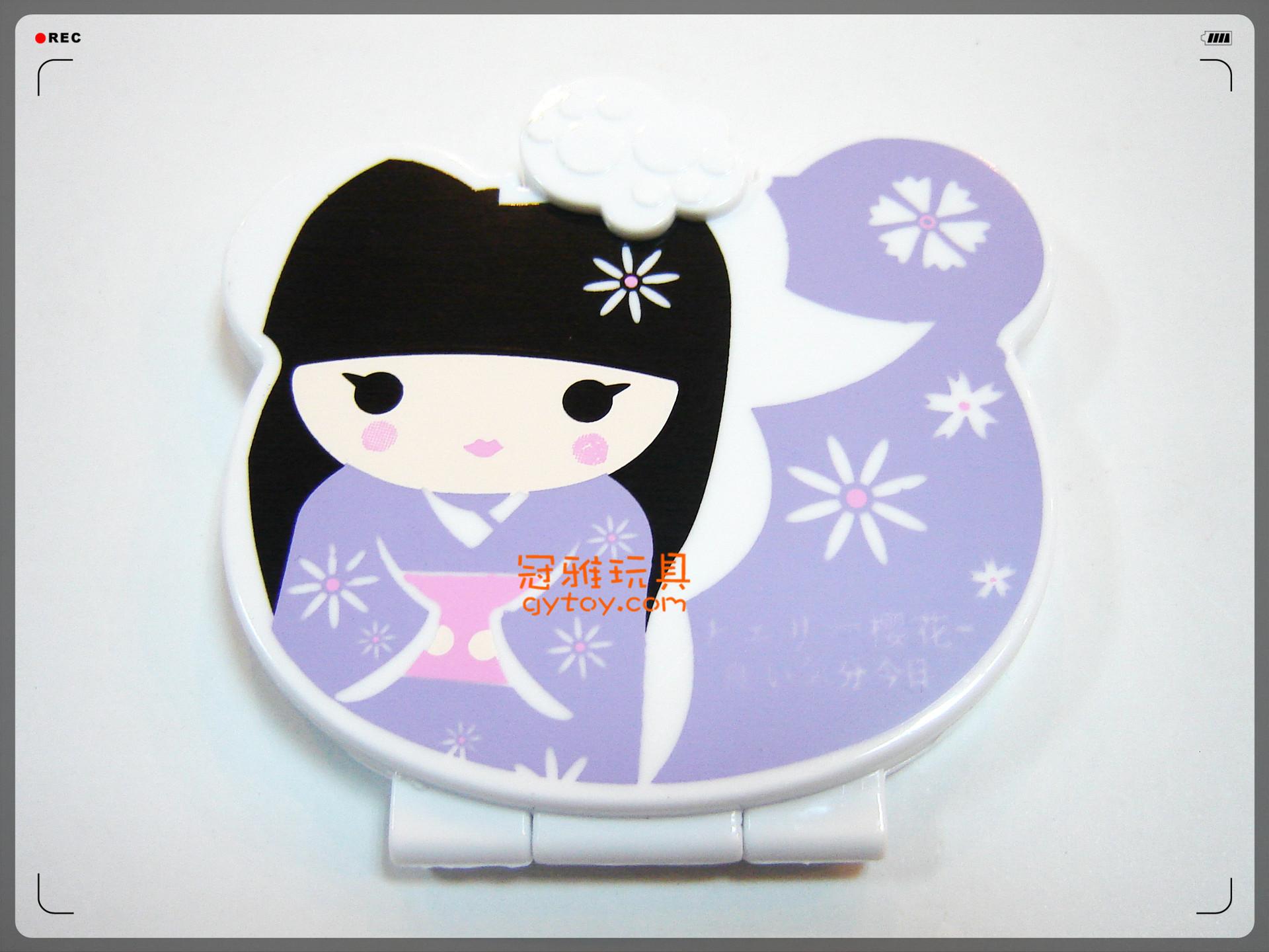 【9*8.5cm日本少女照片广告卡通夹镜子盒和服拳击女生成都图片