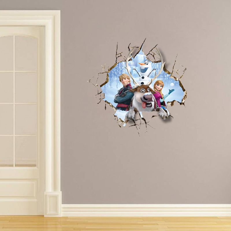 2015 Frozen Wall Stickers Frozen Movie Cartoon Wall Stickers Kids Room  Nursery Wall Decals Cartoon Wallpaper Kids Frozen Decoration Adhesive Wall  Stickers ...
