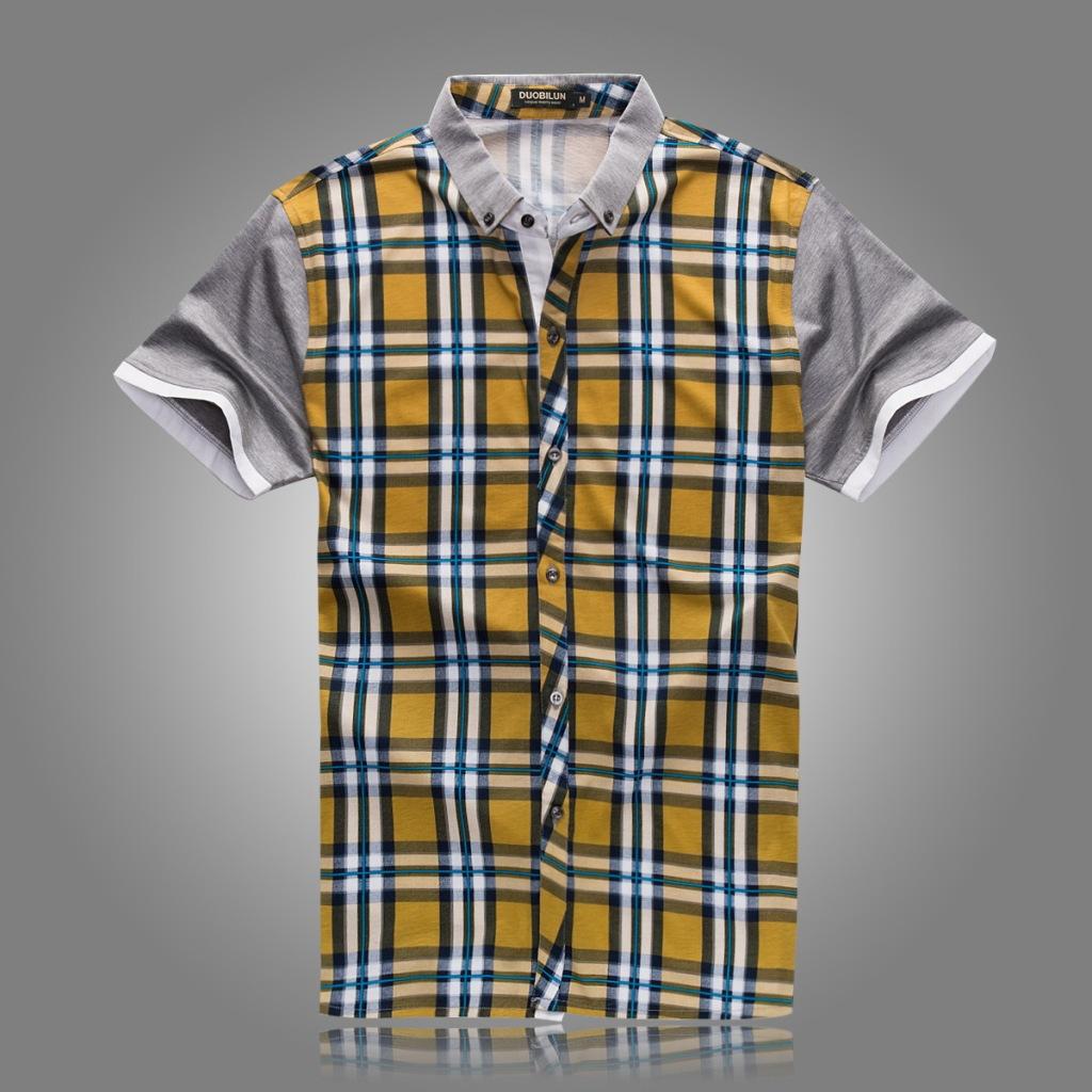 银川/多比伦服饰2014夏季男装翻领新款男式T恤全棉男士短袖5823