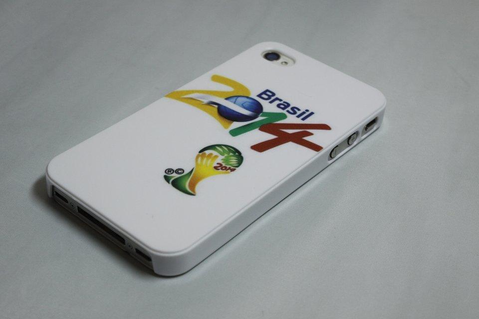 苹果5C世界杯图标手机壳iphone5彩绘手机壳iphone6plus双击home图片