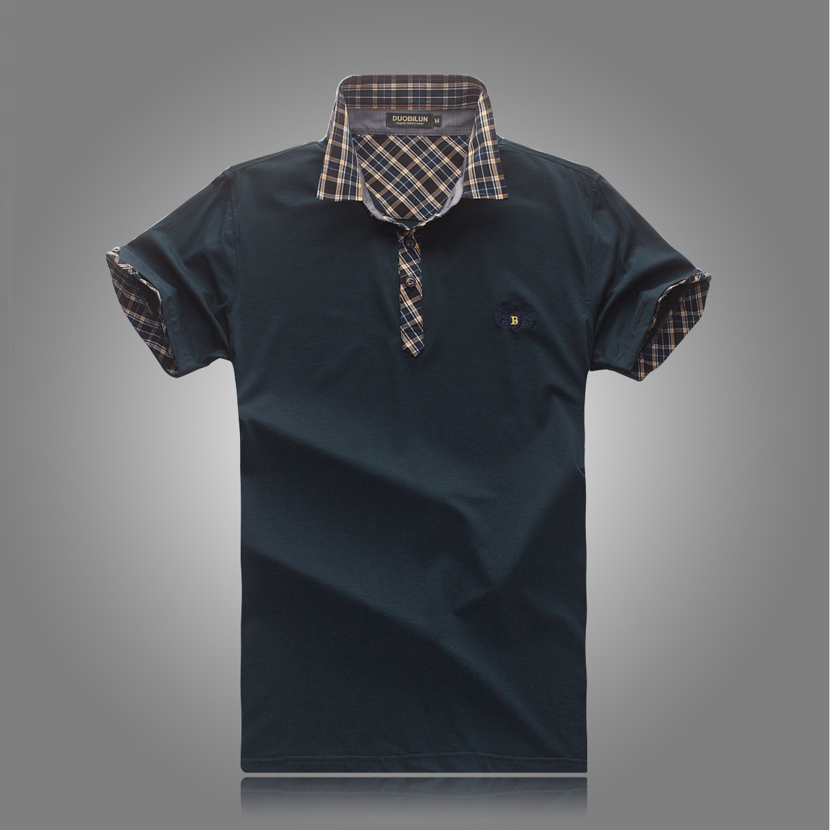 男士 新款 翻领/多比伦服饰2014夏季男装翻领新款男式t恤全棉男士短袖8505