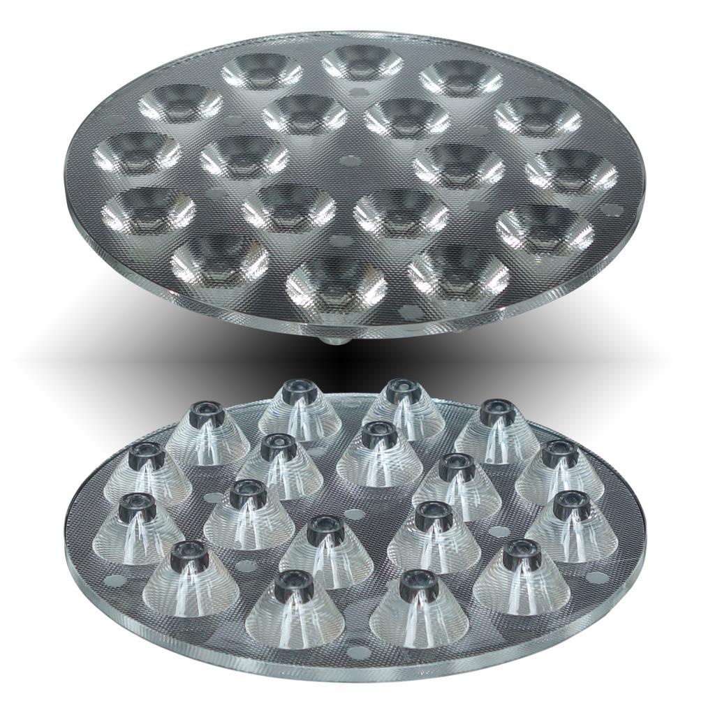供应:CREE XPE/3030模组连体透镜109直径18头细珠面30度
