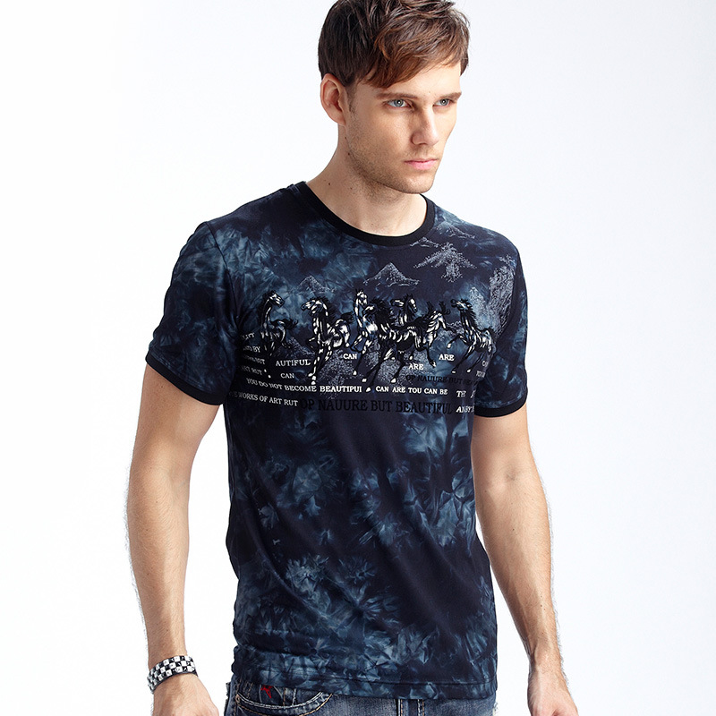 European and american style men 39 s short sleeved t for Modal t shirts mens