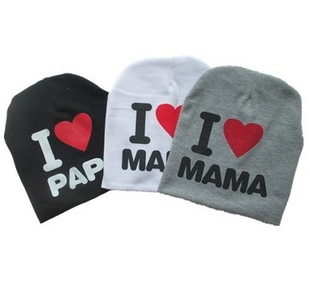 Spring hat factory direct hedging Mom and Dad I love hats baby hats baby hats children hat fetal