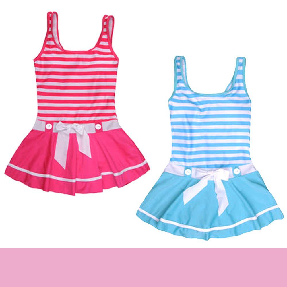 【2014新款儿童游泳衣可爱女童公主连体泳衣