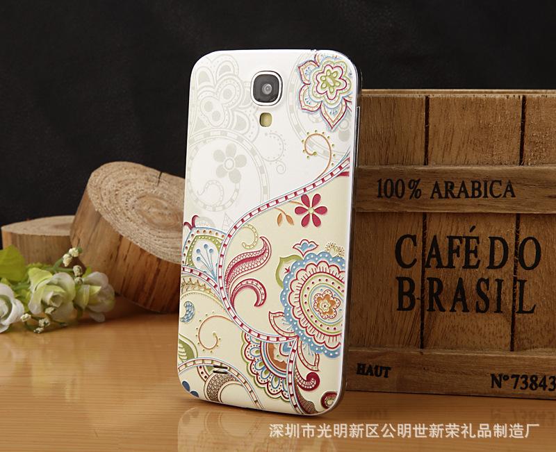 【厂家定制三星手绘浮雕高档手机壳 优雅图案