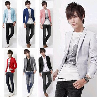The new men's wholesale agent Korean men Slim small suit men's casual suit jacket tide X07