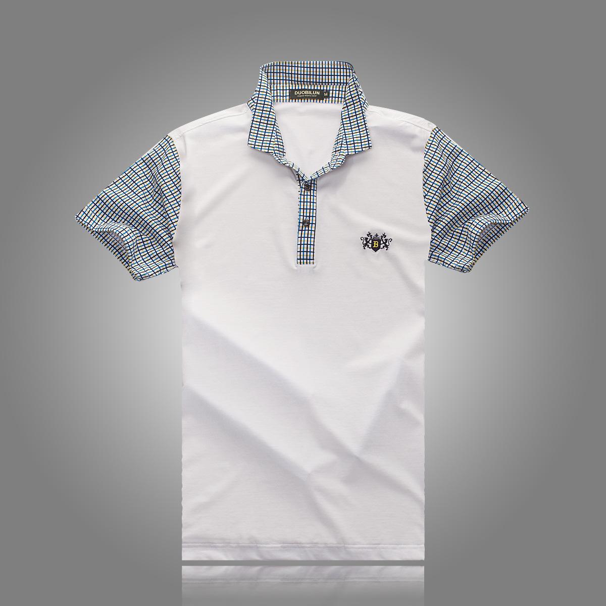 男士 新款 翻领/多比伦服饰2014夏季男装翻领新款男式t恤全棉男士短袖8501