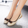 2015 new cone women's shoes leisure mother flats pregnant women bow dance shoes