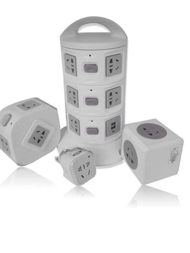 WIFI立式插座 智能插座 魔方插座 带usb插座
