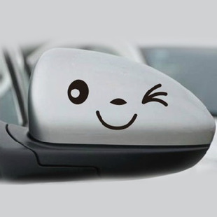 创意车贴可爱笑脸反光车身贴21套搞笑