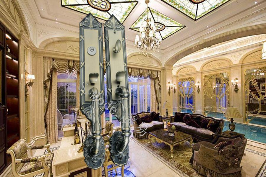 豪华家居大门锁 复古铜酒店别墅门锁 现代执手锁锁具