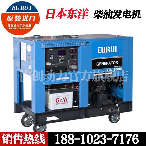 柴油发电机12KW 日本东洋TDL16000E 单相220V 电启动图片