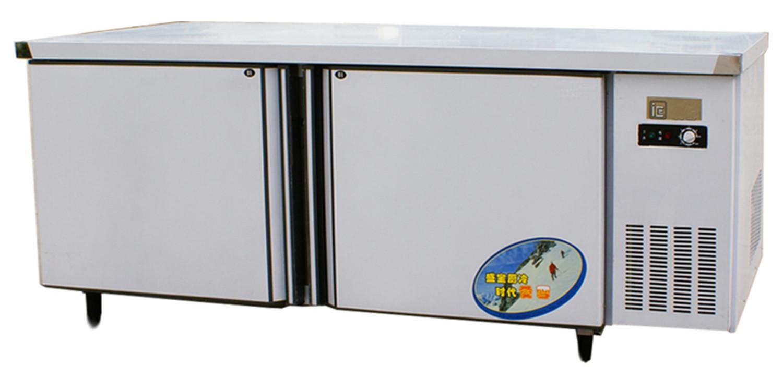 不锈钢冷藏冰柜工作台 商用冷藏冷冻保鲜柜 1.8米1.5米卧式