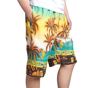厂家直销2015男式沙滩裤情侣沙滩裤休闲短裤 五分速干裤大裤衩