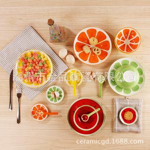手绘水果餐具 日式可爱创意陶瓷碗