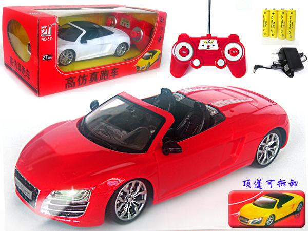 【乐美玩具】1:18四通奥迪R8遥控跑车 过家家益智批发