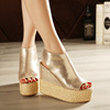 The slope with a new spring high-heeled sandals heels Korea Princess summer women shoes waterproof shoes with the mouth