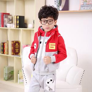 2015冬款童装 韩版男童套装