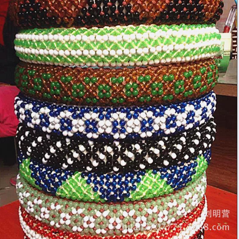 华丽精品把套 手工编织串珠 夏季全珠方向盘把套透气防滑多色可选图片