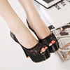 In the summer of 2016 the new fine documentary shoes with high female waterproof table fish mouth lace hollow out han ed
