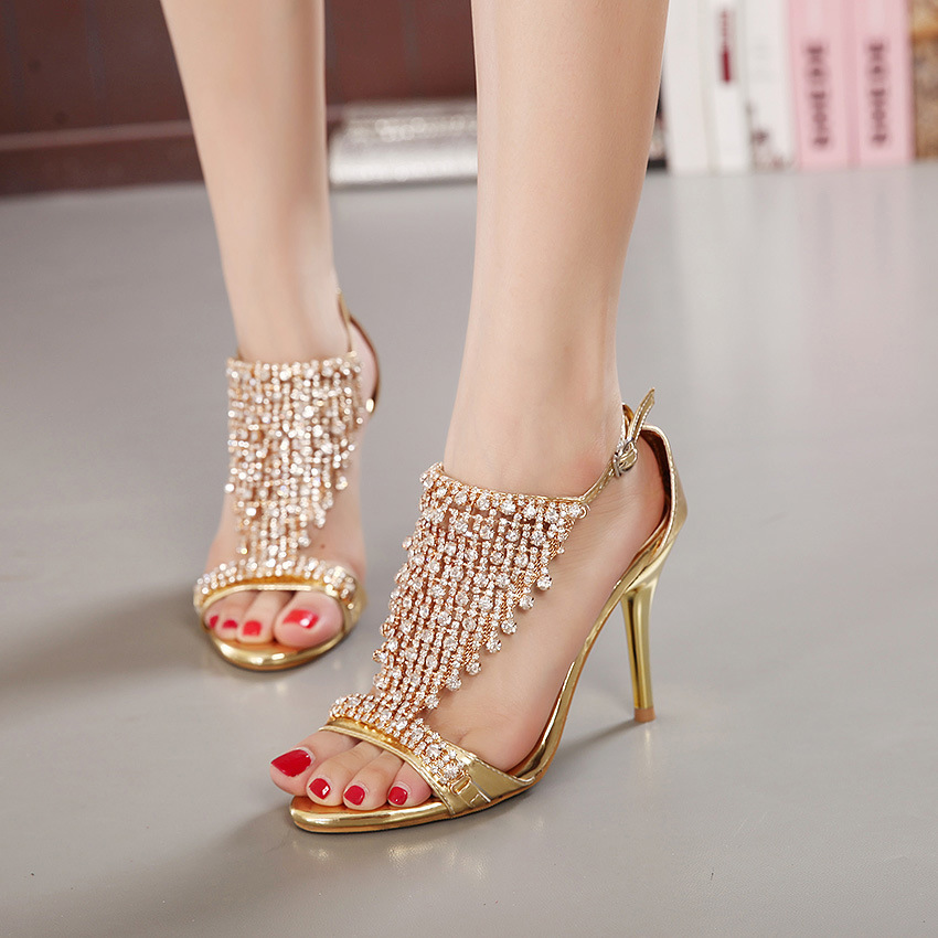 Fine with star sandal shoes wedding party diamond sexy shoes 2015 diamond sandals's main photo