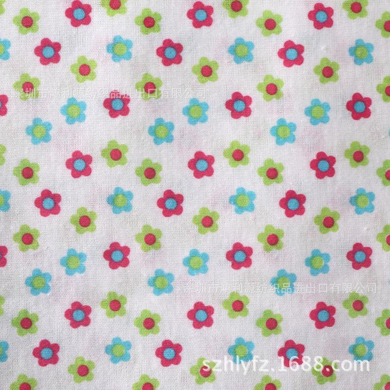 厂销外贸批发全棉布 TC布 针织布 24针布花瓣玩具印花布免